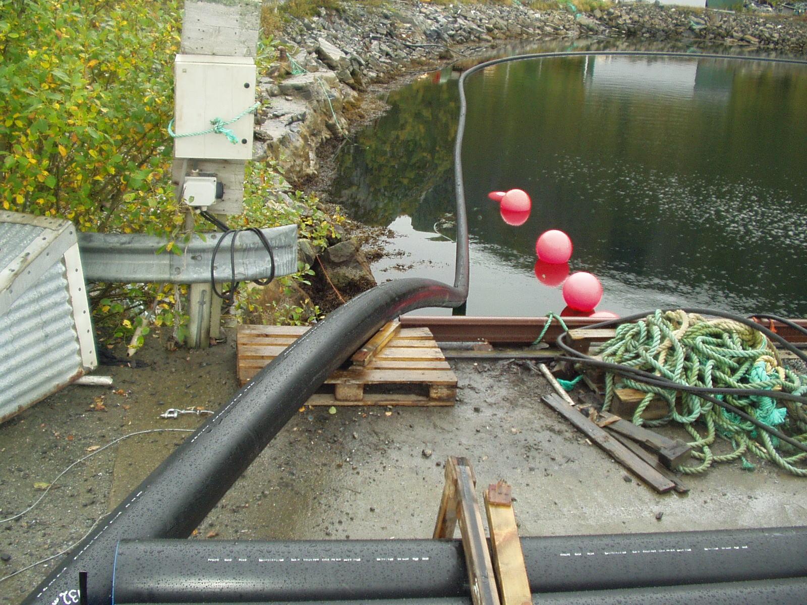 Rørstrekk til Bølgekraftprosjekt i Flatanger
