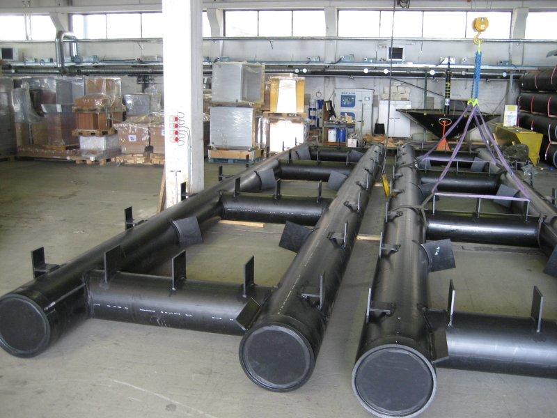 12 meters brygekonstruksjon m/festeører for treverk